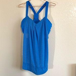 Lululemon | Blue Tank Sports Bra Top - Size 14 XL